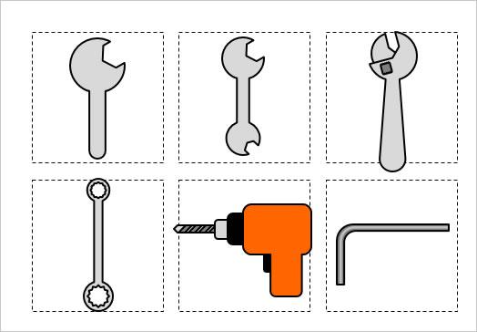 工具大工道具のイラスト3パワーポイント パワポ素材のぱわぽすけ